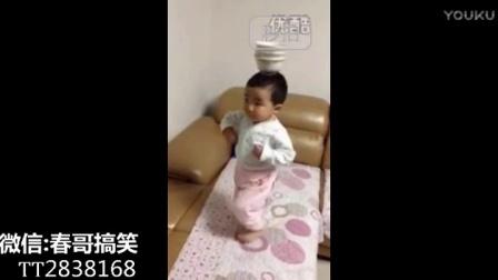 这是以舞功称霸广场的奶奶带大的宝贝才能有如此天赋吧!