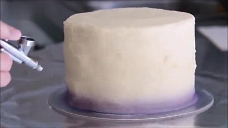 双层喷绘彩虹蛋糕制作教程