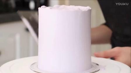 如何制作紫色和金色的蕾丝订婚蛋糕(蛋糕甜点教程)
