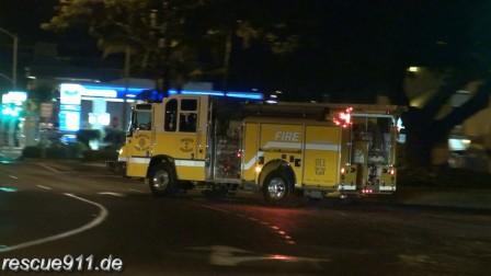 街拍美国夏威夷消防车出警