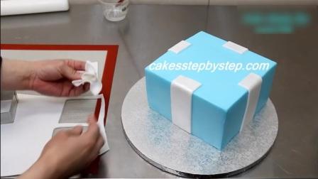 礼盒珍珠加钻石翻糖蛋糕