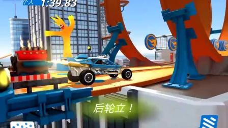 风火轮火辣小跑车游戏!鲨鱼车挑战惊险轨道!
