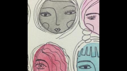ART JOURNAL艺术手帐-和拉拉一起玩水彩