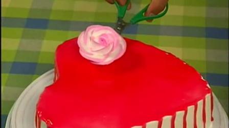 蛋糕裱花花边视频 生日蛋糕裱花动物创意蛋糕