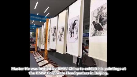 中国著名画家何雪飞艺术家与新加坡著名女纹身师苹果曲