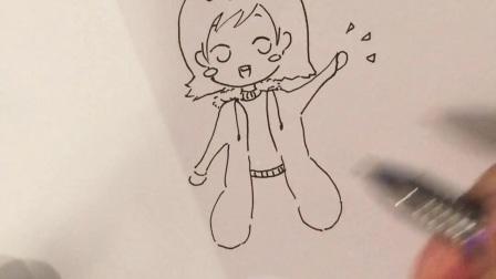 【小葩生日快乐】【小葩手绘】生日贺图简笔画、小葩过生日啦