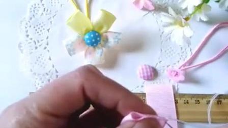 小严手工发饰材料 手工制作儿童发绳皮筋花朵做法视频教程 手工发饰蝴蝶结做法视频教程