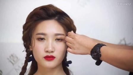 中式新娘发型_新娘跟妆培训韩式妆 (25)_8新娘妆学习班