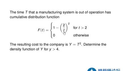 北美精算师视频教程 SOA Exam P Lessons B.4.2 Transformations_ Density Approach.mp4