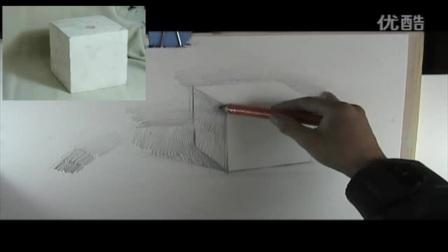 画画入门 素描初级班教程电饭煲做蛋糕的方法