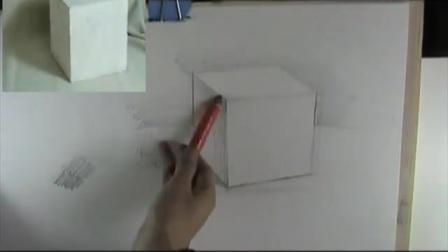 油画技法教程3d铅笔画_几何体结构素描教程_儿童水彩笔画速写入可爱蛋糕