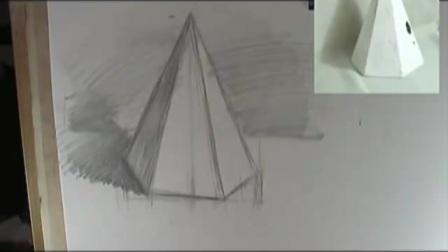 如何学素描伯里曼速写_油画基础教程_素描教程立体图形水粉教学美味蛋糕