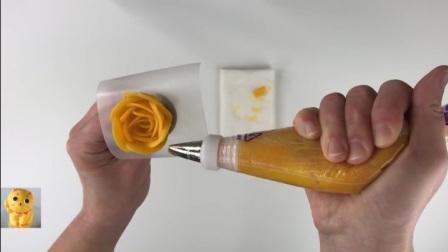 烘焙王国蛋糕裱花教程之黄玫瑰.mp4