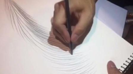 素描丝雾眉画法,5分钟快速掌握素描线条技巧