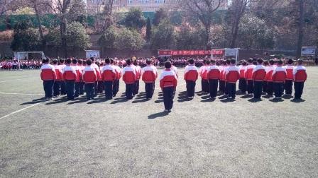 华山路学校一年级三班队列队形比赛