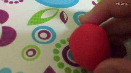 亲子小游戏,橡皮泥制作草莓