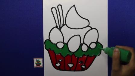 爱乐家园 亲子游戏 生日蛋糕冰激凌儿童胶画 智力手工