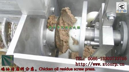 鸡油渣压榨机,油渣分离机,榨油机,螺旋压榨机