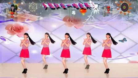 2017年美梅广场舞-原创单人水兵舞《一吻红尘》2-附背面演示-编舞:美梅