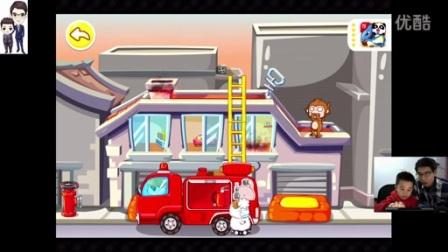 宝宝巴士:我是消防员☆驾驶消防车和直升飞机_标清