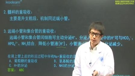 003  各段肾小管和集合管的重吸收及肾糖阈的概念