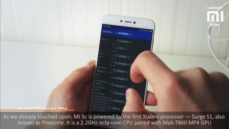 Xiaomi Mi 5c on Xiaomi s first CPU Surge S1 Review