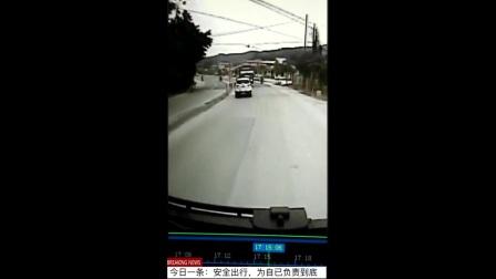 今日一条:中国交通事故合集女司机撞车祸瞬间行车记录仪实拍追尾碰 逆行相撞