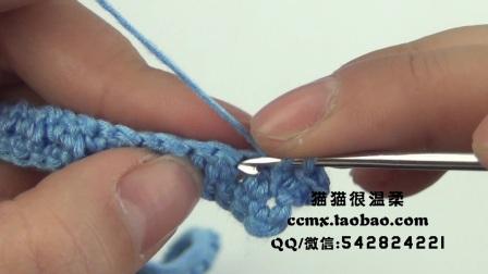 猫猫编织教程背带蛋糕裙(2)钩针毛线编织教程猫猫很温柔创意编织