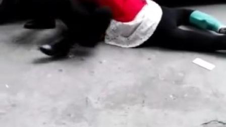 美女打架当街扒衣