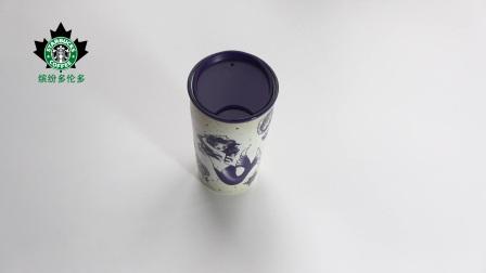 Starbucks 星巴克2016美国周年庆人鱼插画双层陶瓷马克杯随行杯