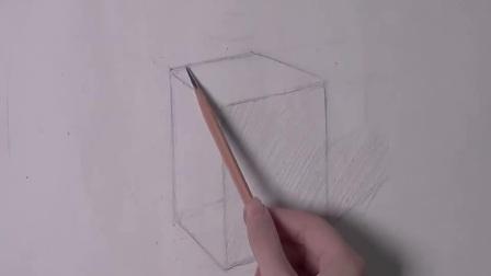 素描图片入门_素描正方体透视_入门 素描