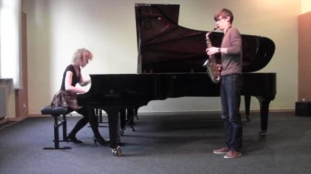 William Albright - Sonata for saxophone and piano (MagDus Duo).mp4