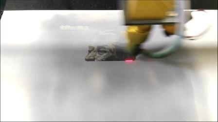 不锈钢影雕——激光雕刻墨水在不锈钢上雕刻照片