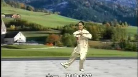 吴阿敏三十二式太极剑正面示范