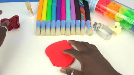 DIY如何做动能砂糖果口香糖蛋糕橡皮泥学习颜色