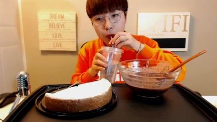 [BEGLE吃播]小姐姐又吃甜食啦!美味的奶酪蛋糕、红豆粥!(口水~)