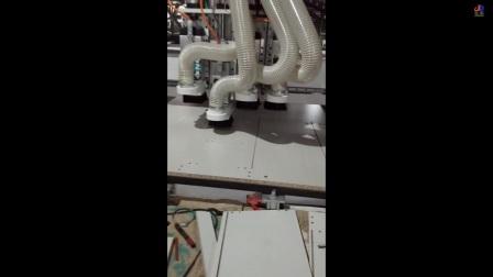 济雕数控四工序开料机打孔视频