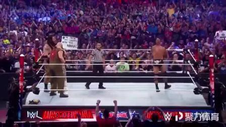 摔跤狂热大赛,人民冠军强森突然现身,整个场馆瞬间沸腾了