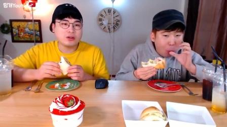 [Ddongkae吃播][Real Sound]大胃王吃播-草莓蛋糕杯