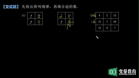 小学奥数视频三年级:寻找规律(3)