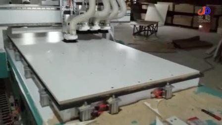 济雕数控 板式家具开料机 四工序开料机橱柜加工