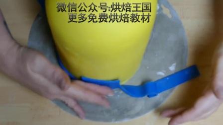 翻糖蛋糕教程创意小黄人