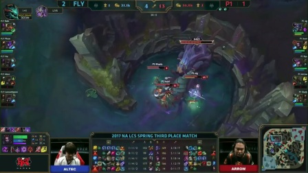 LCS FLY  VS P1  Game 4 Highlights - 2017 NA  Spring 3rd Place