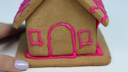 糖果店姜饼屋有趣和简单的DIY套件!