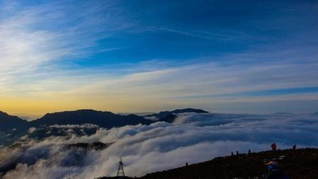 延时摄影:红岩顶云瀑