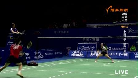 4月23日中国羽毛球大师赛决赛女单大堀彩vs川上纱惠奈
