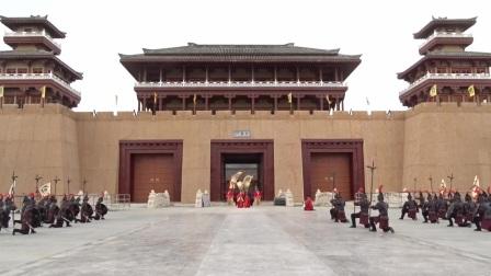 枣阳中国汉城·汉宫景区--御林军开城迎宾