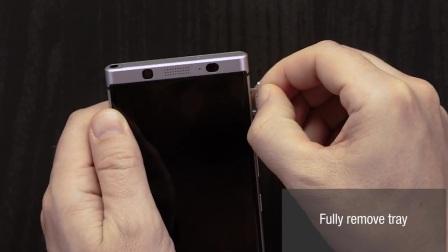 为BlackBerry KEYone手机安装SIM手机卡