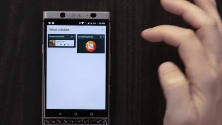 BlackBerry KEYone上的图标下方的三个点是什么意思