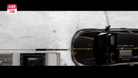 CR-V正面40%碰撞测试